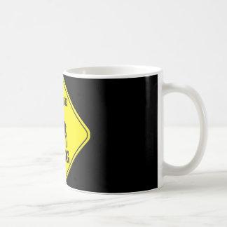 Caution- Moose Crossing Coffee Mug