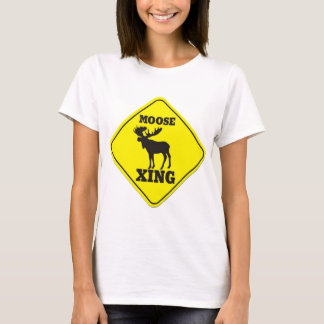 Caution- Moose Crossing T-Shirt