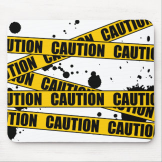 Caution! Mouse Pad