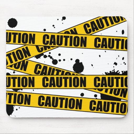 Caution! Mouse Pad