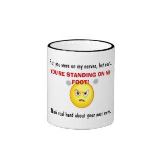Caution Ringer Coffee Mug