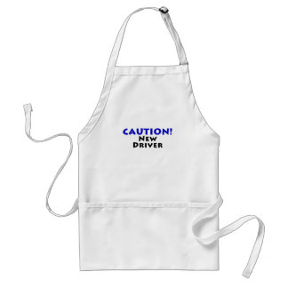 Caution New Driver Adult Apron
