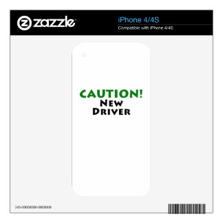 Caution New Driver Decals For iPhone 4