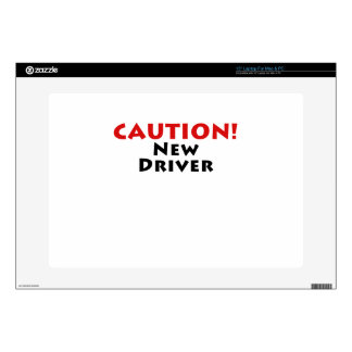 Caution New Driver Laptop Decals