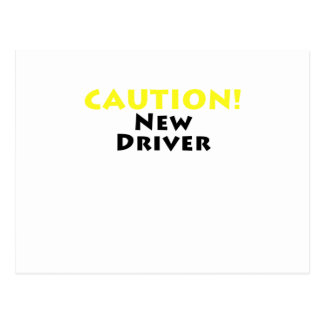 Caution New Driver Postcard