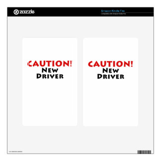 Caution New Driver Skin For Kindle Fire