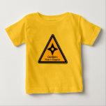Caution: Ninja in Disguise (Shuriken) Baby T-Shirt