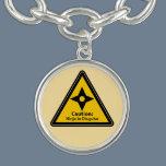 Caution: Ninja in Disguise (Shuriken) Bracelet