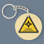 Caution: Ninja in Disguise (Shuriken) Keychain