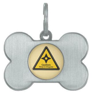 Caution: Ninja in Disguise (Shuriken) Pet ID Tag