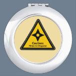 Caution: Ninja in Disguise (Shuriken) Vanity Mirror