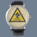 Caution: Ninja in Disguise (Shuriken) Wrist Watch