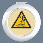 Caution: Ninja in Disguise (Silhouette) Compact Mirror