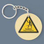 Caution: Ninja in Disguise (Silhouette) Keychain