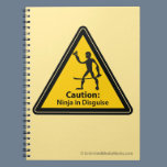 Caution: Ninja in Disguise (Silhouette) Notebook