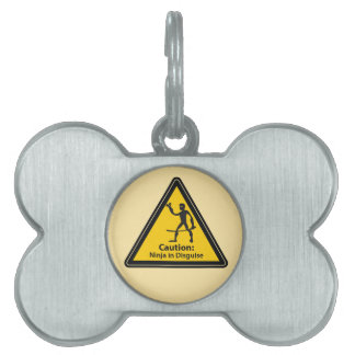 Caution: Ninja in Disguise (Silhouette) Pet Tag