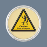 Caution: Ninja in Disguise (Silhouette) Pin