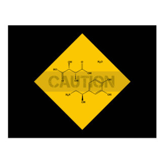 Caution: Norepinephrine Postcard