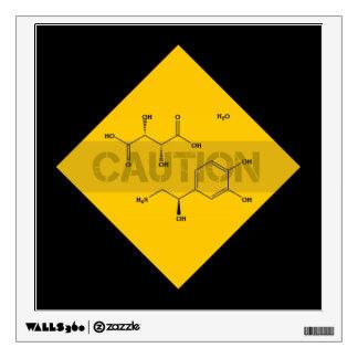 Caution: Norepinephrine Wall Sticker