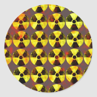 caution, nuclear energy classic round sticker