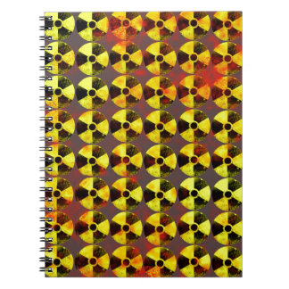 caution, nuclear energy notebook