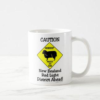 Caution NZ Red Light District Coffee Mug