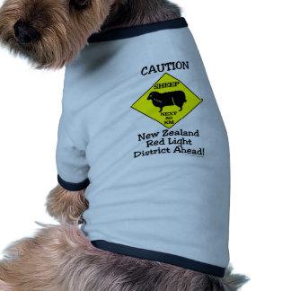 Caution NZ Red Light District Doggie Tee