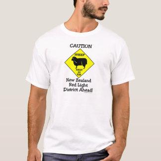 Caution NZ Red Light District T-Shirt