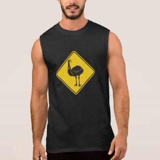 Caution Ostrich, Traffic Warning Sign, Australia Sleeveless Tee