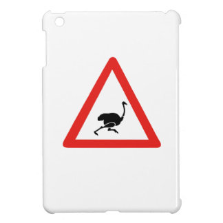 Caution Ostriches, Traffic Warning Sign, Namibia Case For The iPad Mini
