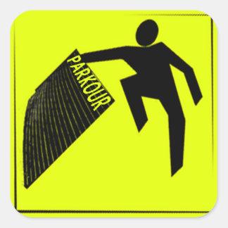 Caution Parkour Sticker