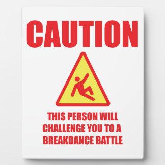 Caution Photo Plaques