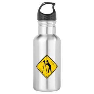 CAUTION! Photographer Road Sign Water Bottle