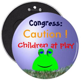 Caution ! pinback button