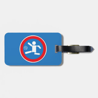 Caution Playing Children, Traffic Sign, Argentina Tag For Bags