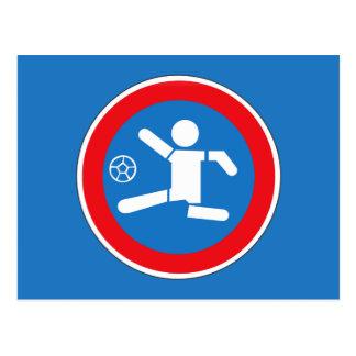 Caution Playing Children, Traffic Sign, Argentina Postcard