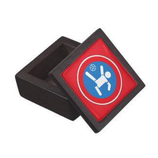 Caution Playing Children, Traffic Sign, Argentina Premium Jewelry Box