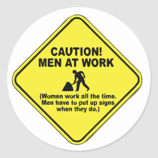 caution.png classic round sticker