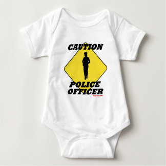 Caution_Police_Officer2.gif Baby Bodysuit