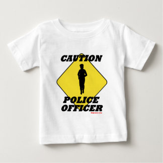 Caution_Police_Officer2.gif Baby T-Shirt