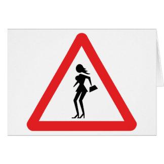 Caution Prostitute (Attenzione Prostitute) Card