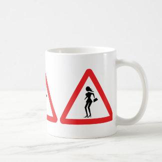 Caution Prostitute (Attenzione Prostitute) Sign Coffee Mug