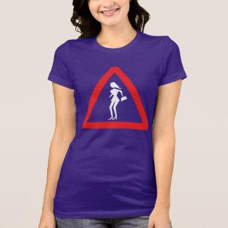 Caution Prostitute (Attenzione Prostitute) Sign T-Shirt