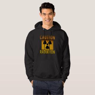 Caution Radiation Symbol Retro Atomic Age Grunge : Hoodie
