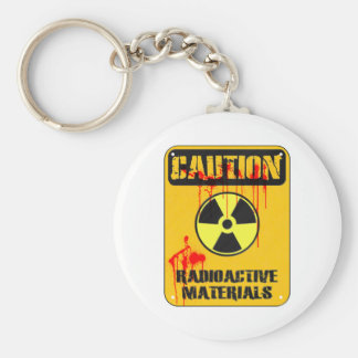 Caution Radioactive Material Keychain