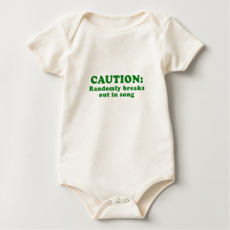 Caution Randomly Breaks Out in Song Baby Bodysuit