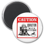 Caution Refrigerator Magnets