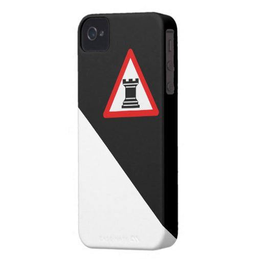 Caution: Rook Chess Piece Sign iPhone 4 Cover