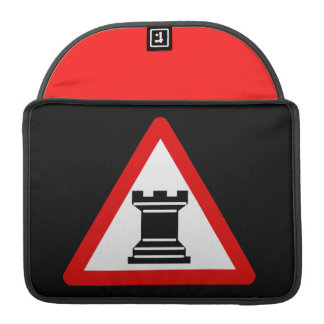 Caution: Rook Chess Piece Sign MacBook Pro Sleeve