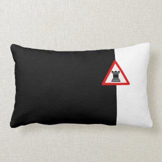 Caution: Rook Chess Piece Sign Pillow
